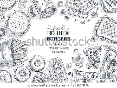 ui · ringen · fastfood · restaurant · voedsel · snel · geïsoleerd - stockfoto © lightsource