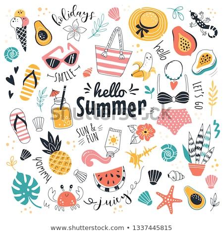 verão · praia · símbolos · objetos · vetor - foto stock © robuart