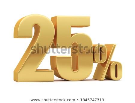 Twintig procent witte geïsoleerd 3d illustration geld Stockfoto © ISerg