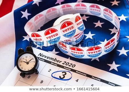 presidencial · eleição · cartaz · desenho · animado · moderno · EUA - foto stock © nezezon