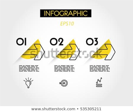 Drei Schritte Timeline Business Design Stock foto © SArts