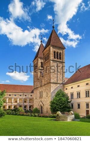 аббатство Австрия монастырь базилика трава здании Сток-фото © borisb17