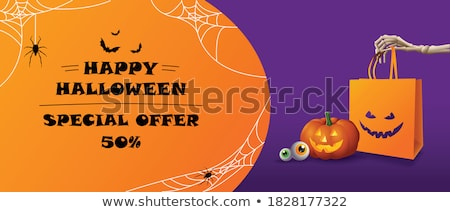 Halloween horror poster vettore eps 10 Foto d'archivio © rwgusev