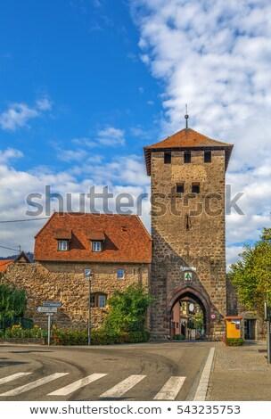 town gate dambach la ville alsace france stock photo © borisb17