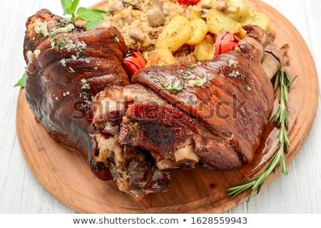 Stock photo: Roaster Pork Knuckle - Traditional German cuisine, Eisbein