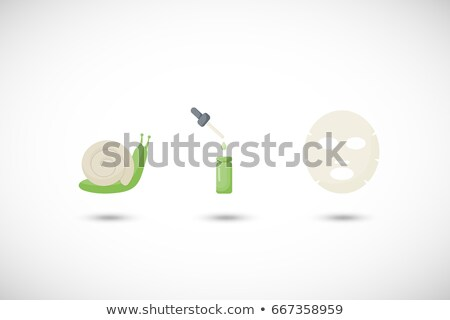 Snail icon with shadow. Flat vector illustration Stock photo © Imaagio