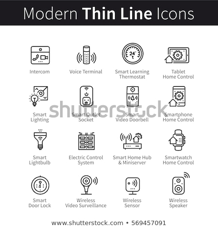 Lightbulb Voice Control Icon Vector Illustration Stock photo © pikepicture
