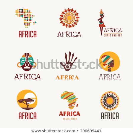 Safari Travel Collection Elements Icons Set Vector Stock photo © pikepicture