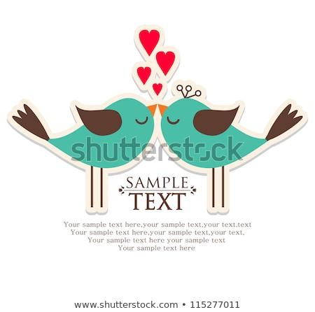 Adam kadın düğün kartpostal valentine vektör Stok fotoğraf © robuart