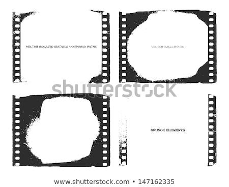 Filmstrip eski video kamera tek renkli vektör fotoğrafçılık Stok fotoğraf © pikepicture