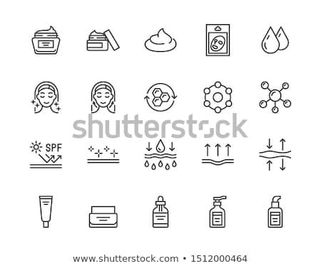 Haut Altern Frauen Symbol Vektor Gliederung Stock foto © pikepicture