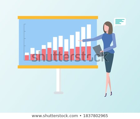 Business Strategy, Presenter with Whiteboard Info Stock photo © robuart