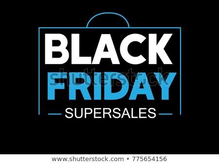Black friday vásár címke ajánlat részletek bolt Stock fotó © SArts