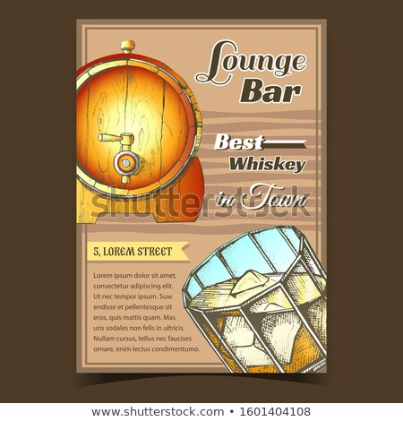 Whiskey Lounge Bar Best In Town Poster Vector Stock photo © pikepicture