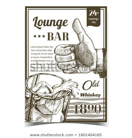 Whiskey oude salon bar reclame banner Stockfoto © pikepicture