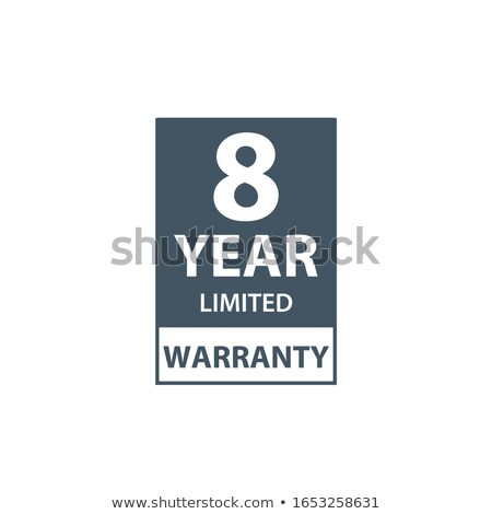 8 years limited warranty icon or label, certificate for customers, warranty stamp or sticker. vector Stock photo © kyryloff