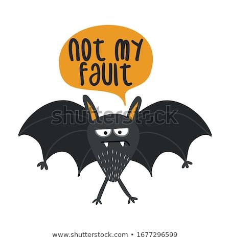 не вина Cute печально Bat Сток-фото © Zsuskaa