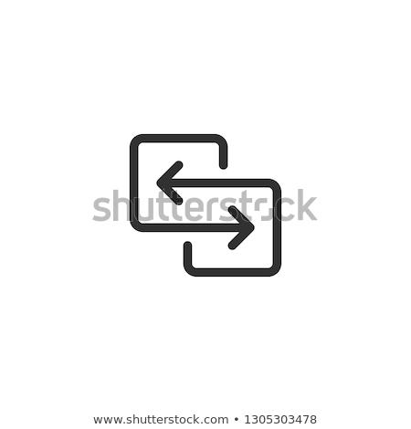 Czarny kierunku transfer danych Zdjęcia stock © kyryloff