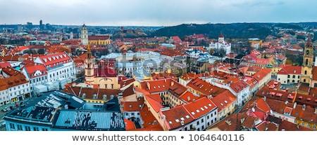 Historical House in Vilnius, Lithuania Stock photo © borisb17