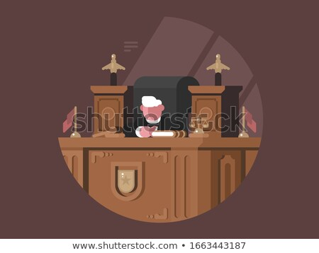 Wise judge in chair at workplace Stock photo © jossdiim