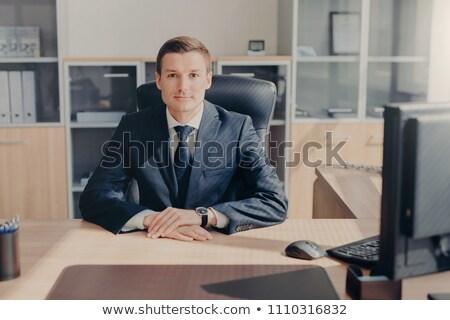 Gururlu yakışıklı erkek dolap Stok fotoğraf © vkstudio