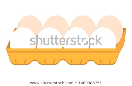 Oval Shaped Egg in Carton Package, Organic Product Stock photo © robuart