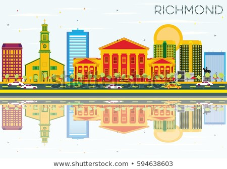 Abstract Virginia skyline kleur gebouwen Stockfoto © ShustrikS
