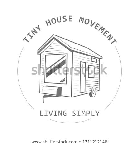 ızgara küçücük ev tekerlekler Stok fotoğraf © gomixer