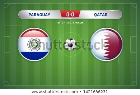 Argentina vs Paraguay football match Stock photo © olira