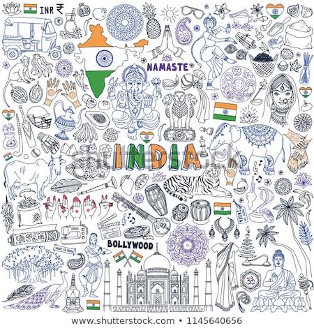 India bandiera mano bianco sfondo libertà Foto d'archivio © butenkow