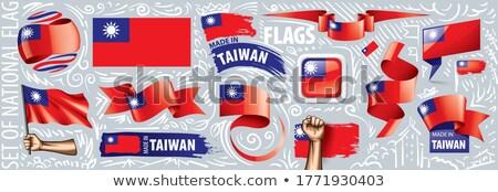 Vetor conjunto bandeira Taiwan criador Foto stock © butenkow