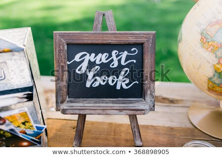 Bruiloft gast boek schrijven bruid ring Stockfoto © johnkwan