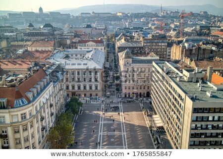 Luchtfoto vierkante basiliek Boedapest mooie boven Stockfoto © artjazz