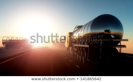üzemanyag útvonal vezetés hegy út felhők Stock fotó © olira