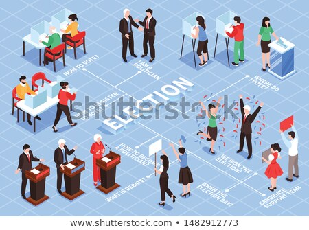 Voter Winner isometric icon vector illustration Stock photo © pikepicture