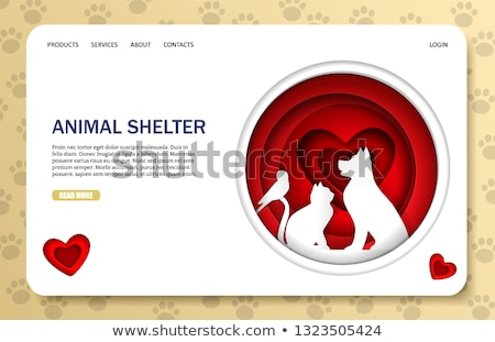 Animal shelter concept landing page Stock photo © RAStudio