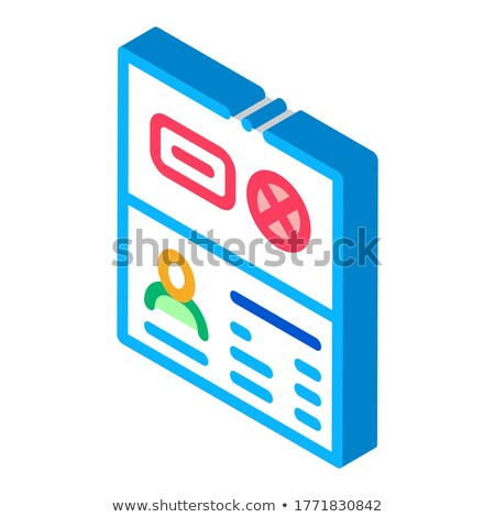 Passport Denial isometric icon vector illustration Stock photo © pikepicture