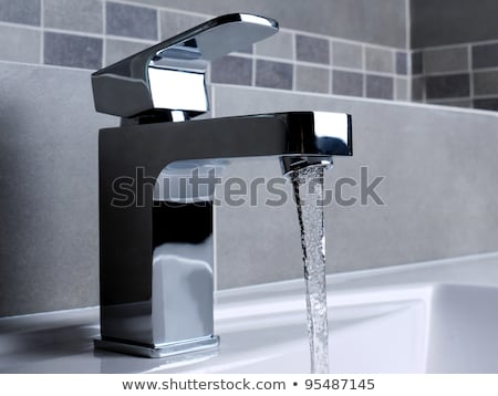 washbasin and chrome tap  Stock photo © Ansonstock