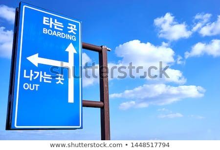 юг полюс шоссе знак зеленый облаке улице Сток-фото © kbuntu