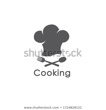 Stok fotoğraf: Chef Hat With Spoon And Fork