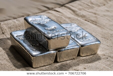 Silver ingot casting Stock photo © paulfleet