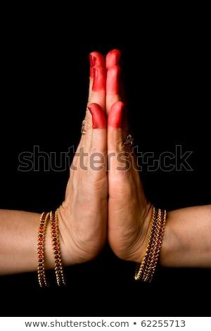 indiano · dançar · mulher · mãos · clássico - foto stock © dmitry_rukhlenko