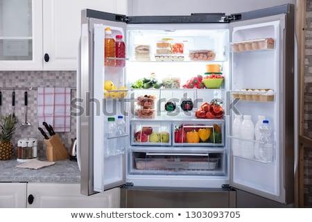 Open fridge Stock photo © simply