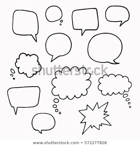 Kézzel rajzolt adatbázis buborékok művészet doboz kék Stock fotó © latent