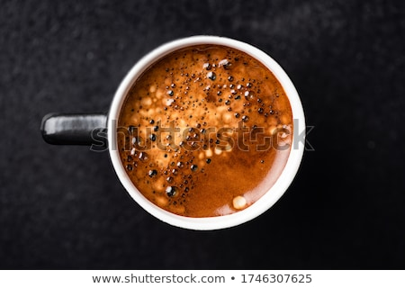Stock photo: macro shot of coffee