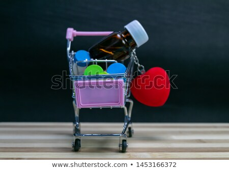 hearts filled in pill on keyboard stock photo © 4designersart