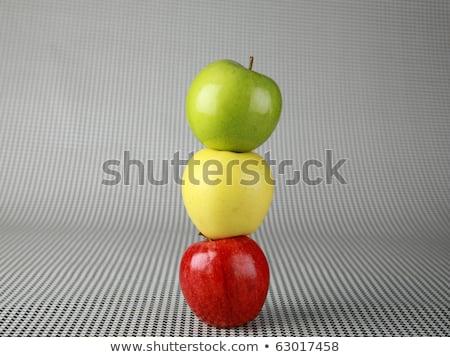 traffic light of apples on a white background stock photo © vlaru