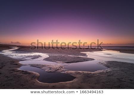 Tengeri kilátás naplemente gyönyörű víz tájkép háttér Stock fotó © Anna_Om