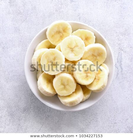 бананы белый пластина различный Сток-фото © frannyanne