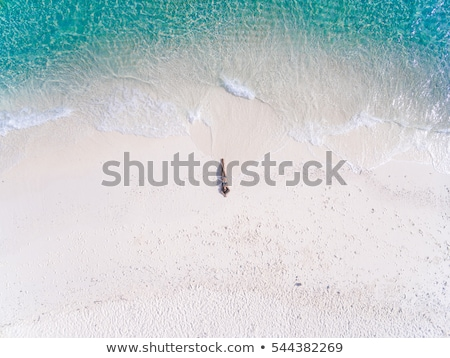 красоту · брюнетка · Тропический · остров · девушки · счастливым · моде - Сток-фото © konradbak